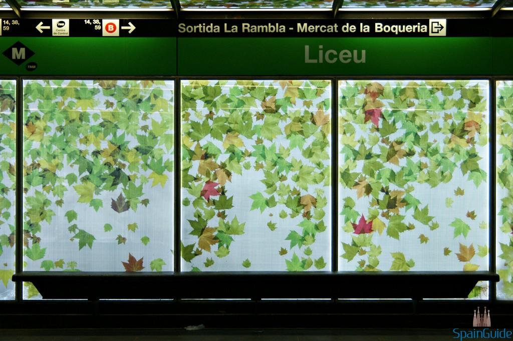 Barcelona Liceu Metro Station